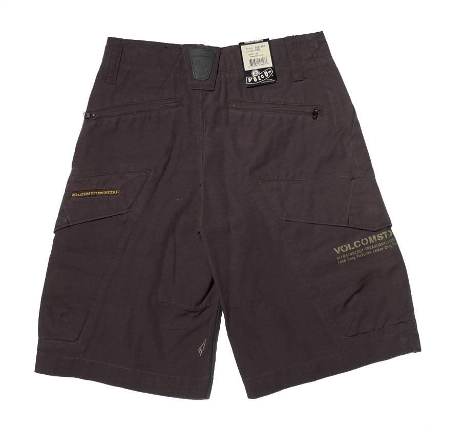 Volcom Crimson Youth Shorts - Charcoal (size 22)