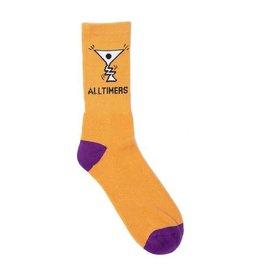 Alltimers Alltimers Action Logo Socks - Peach/Navy