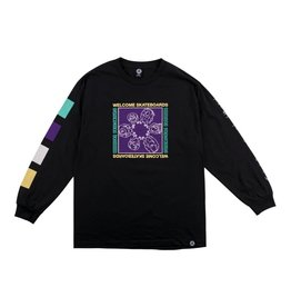 Welcome Welcome Seance Longsleeve T-shirt - Black/Purple