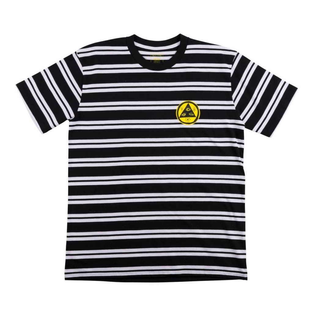 Welcome Welcome Twenty Eye Striped Knit T-shirt - Black/White