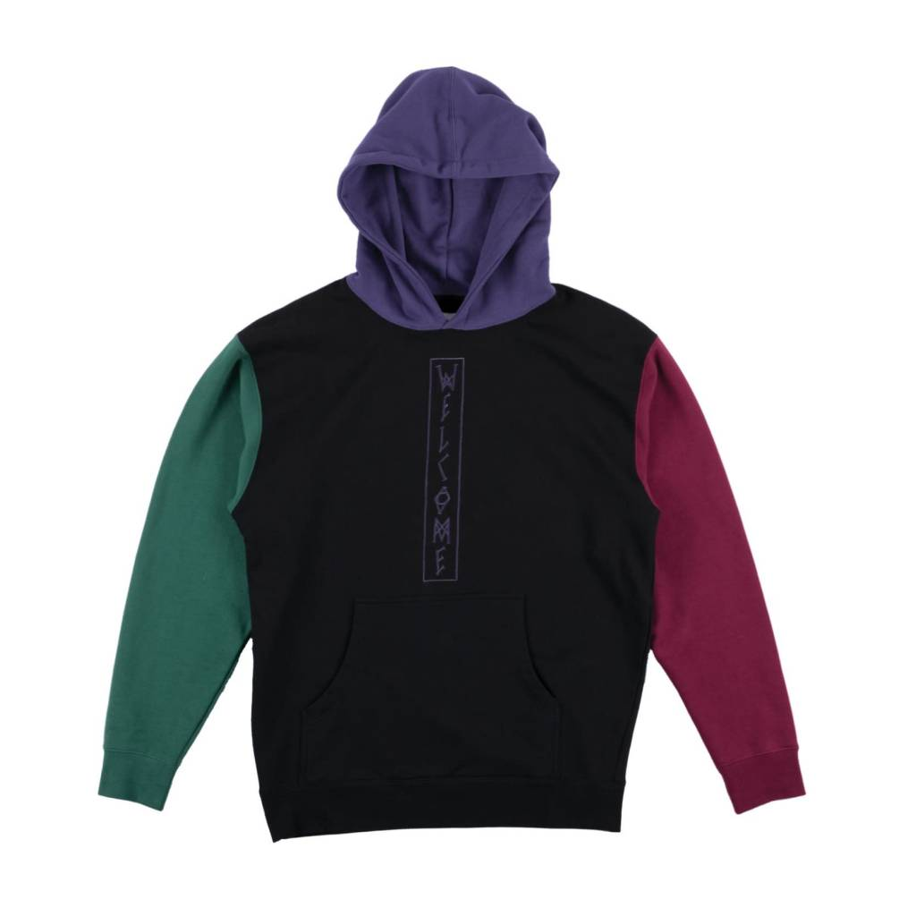 Welcome Welcome Quadrant Color-Blocked Hoodie - Black