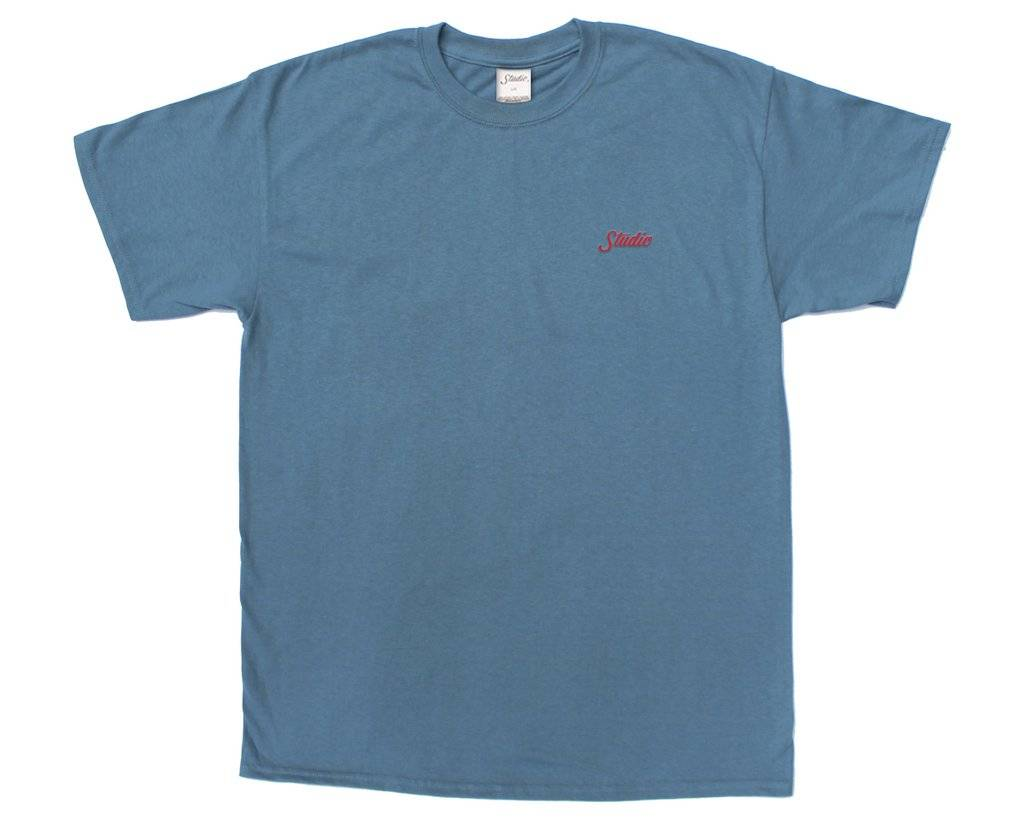 Studio Studio Small Script T-shirt - Slate