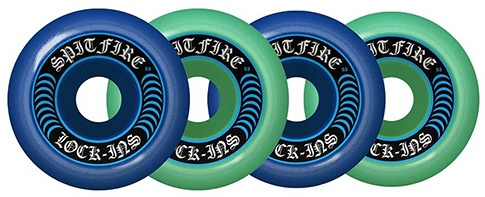 Spitfire Spitfire Formula Four Lockin Mashup Blue/Teal 53mm 99d wheels (set of 4)