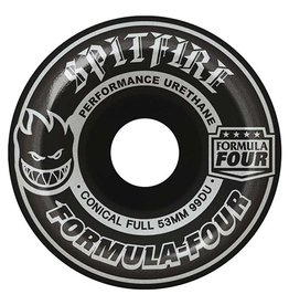 Spitfire Spitfire Formula Four Conical Full Blackout Silver 53mm 99d wheels (set of 4)