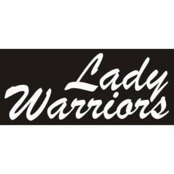 Cut Letter Cal, Lady Warriors, 8 in x 3 in