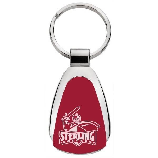 Teardrop Key Ring, LXG, Cardinal Red