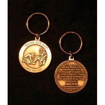 Divine Servant Brass Key Ring