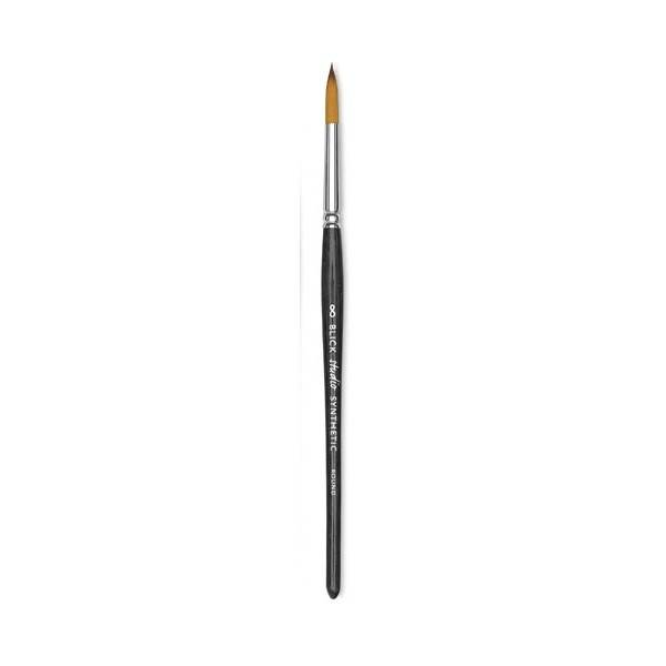 Brush, Blick Studio Short Handle Synthetic Round, #8