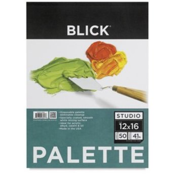 """Blick Disposable Palette Paper Pad, 50 Sheets, 12"""" × 16"""""""
