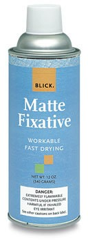 MATTE FIXATIVE, 12 OZ.