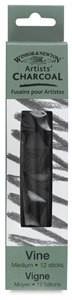 Winsor & Newton Vine Charcoal, Pkg of 12 Sticks Medium