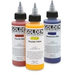 AR131 Golden Matte Fluid Acrylic, Hansa Yellow Opaque