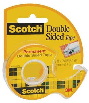 """Scotch® Double-Sided Permanent Tape; 1/2"""" x 250"""""""