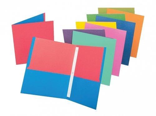 Oxford Twisted Twin Pocket Folder w/Fasteners
