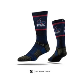 Strideline Premium Crew Socks, Navy Blue
