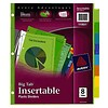 Avery Plastic Insertable Dividers, 8-Tab, Multicolor