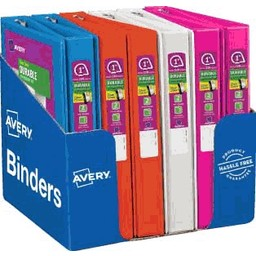 """Avery Durable View Binders with Slant Rings; 1-1/2"""" Capacity"""