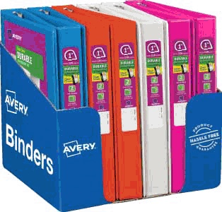 avery durable view binders with slant rings 1 1 2 capacity
