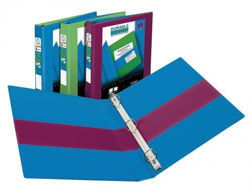 "Avery Durable Two Tone View Binders with Slant Rings; 1"" Capacity; Assorted Colors"