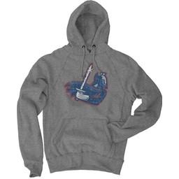 Blue 84 Sanded Fleece Hood, Gunmetal
