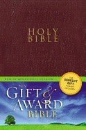 Gift and Award Bible-NIV-Burgundy