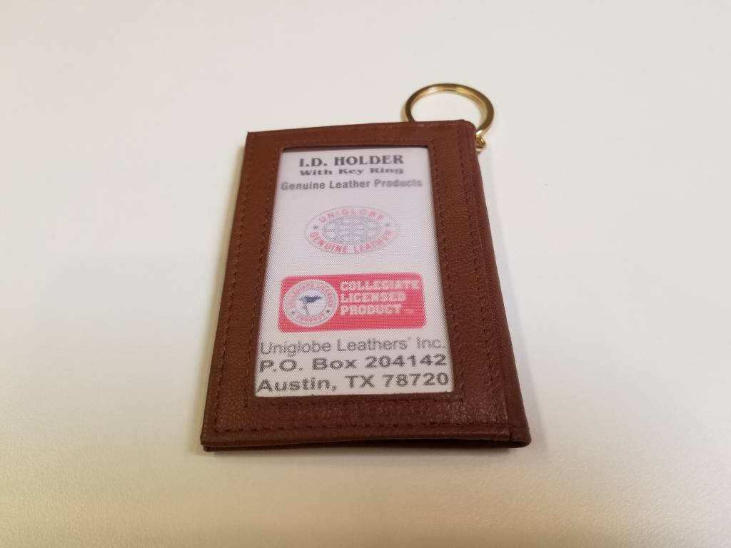 ID Holder with Key Ring, Leather,