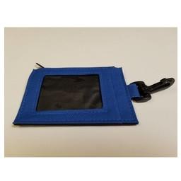 ID Holder, Zipper, Blue Canvas
