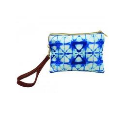 Calypso Blue Tie Dye Wristlet