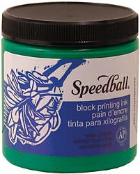 8 OZ BLOCK PRINTING INK, ORANGE