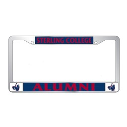 Combo Alumni Chrome License Plate Frame