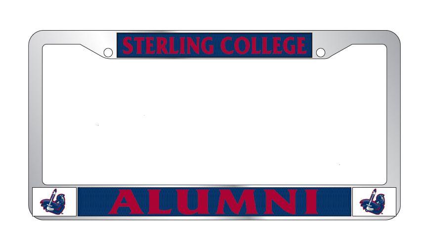 Combo Alumni Chrome License Plate Frame