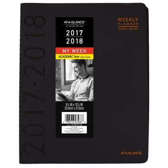 AAG AY Weekly/Monthly Planner, 8.5x11, Black