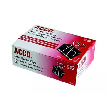 Acco Large Binder Clips, 12ct