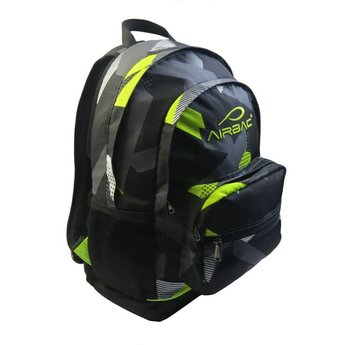 Airbac Bump Backpack, Grey & Lime Green