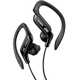 JVC Sport Adjustable Clip Headphones, Black