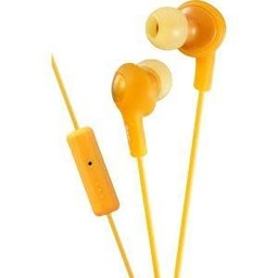 JVC Gumy Plus Inner Ear Headphones With Remote & Mic, Orange