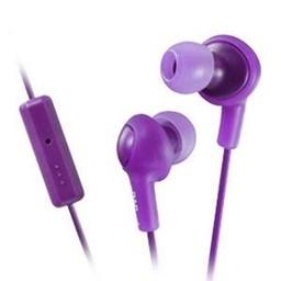 JVC Gumy Plus Inner Ear Headphones With Remote & Mic, Violet