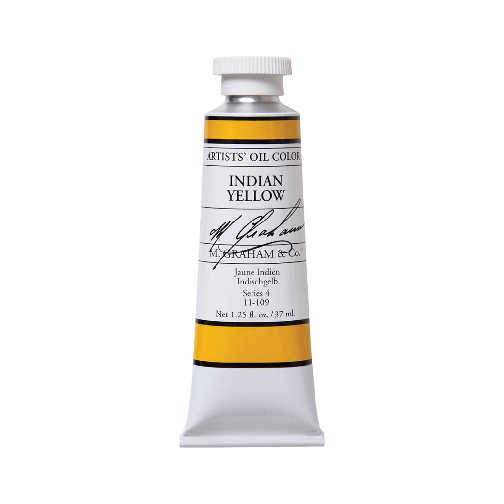 ARTISTS' OIL COLOR, INDIAN YELLOW, 1.25 OZ