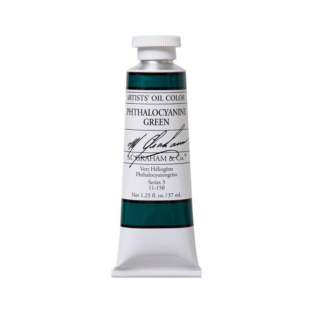ARTISTS' OIL COLOR, PHTHALO GREEN, 1.25 OZ