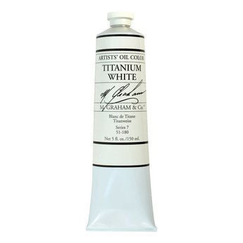 ARTISTS' OIL COLOR, TITANIUM WHITE, 5 OZ
