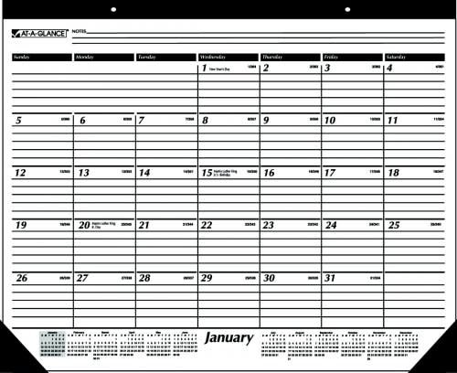 at a glace calendar