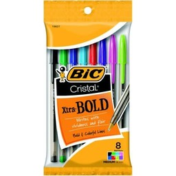 Bic Cristal Bold Pen, Asst Fashion, 8ct
