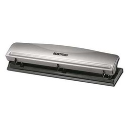 Bostitch 3-Hole Punch, Silver Top