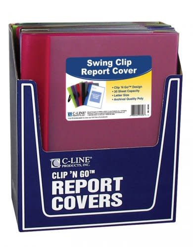 C-Line Swing Clip Report Cover