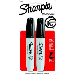 Sharpie® Chisel Tip Permanent Markers; Black, 2/ct