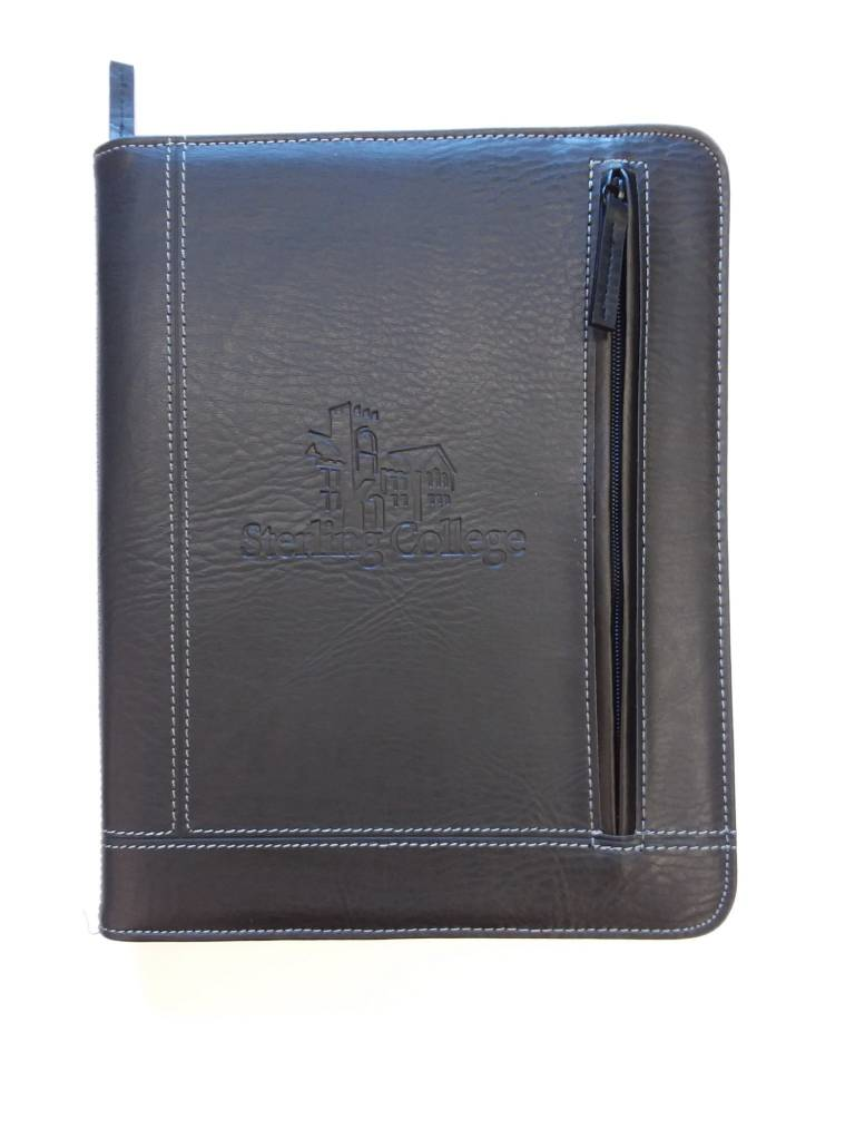 Norwood Pennsylvania Zippered Padfolio, Black