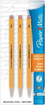 Papermate SharpWriter Mechanical Pencils, .7mm, 3ct