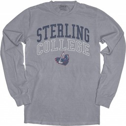 Blue 84 Dyed Ringspun LS Tee - Steel Grey -