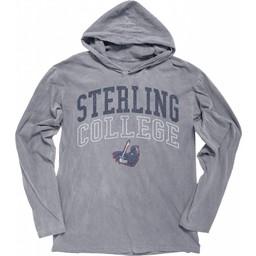 Blue 84 Dyed Ringspun LS Hoodie - Steel Grey -