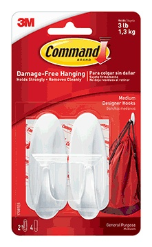 Command Medium Designer Hooks, 2ct
